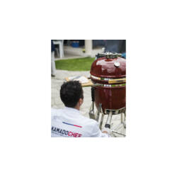 Kamado Chef 1600 Prestige Red Smooth (rozsadmentes acél)