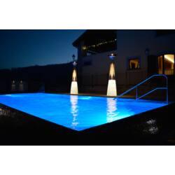 Dolce Vita teraszmelegítő az úszómedence partján