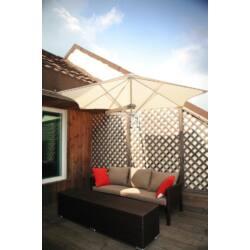 Umbrosa Paraflex Premium napernyő- falra szerelhető, közép oszlopos és több vitorlás változatban