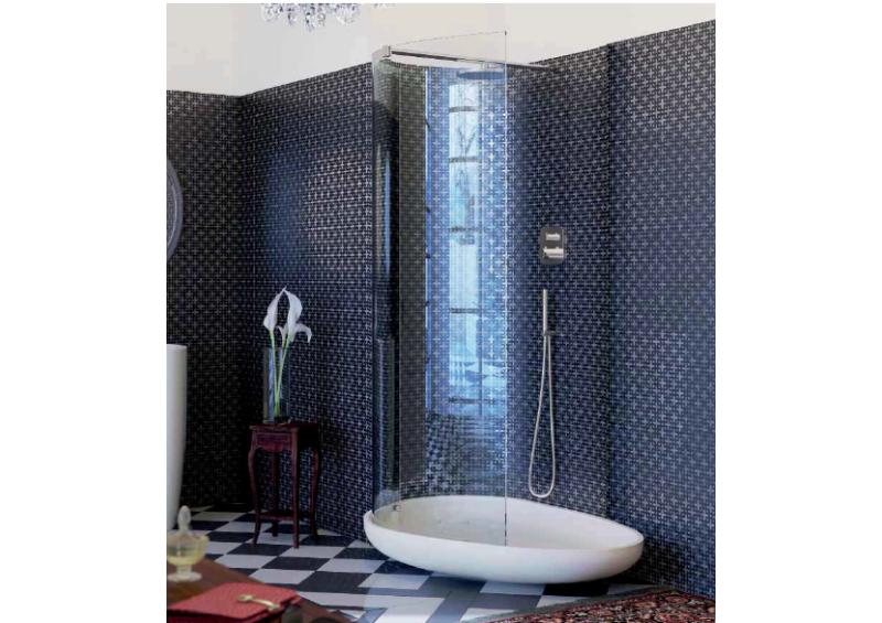 Glass Beyond Shower (walk in shower area)