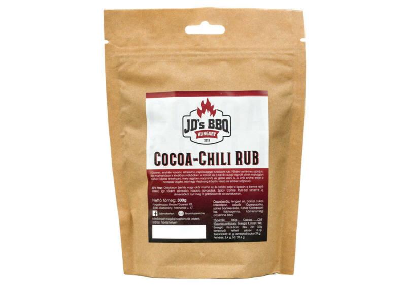 JD's BBQ Cocoa-Chili Rub fűszer - visszazárható tasakos