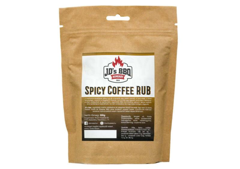 JD's BBQ Spicy-Coffee Rub fűszer - visszazárható tasakos