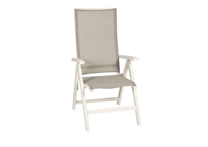 Tinos dönthető háttámlás szék White Mat Light Grey