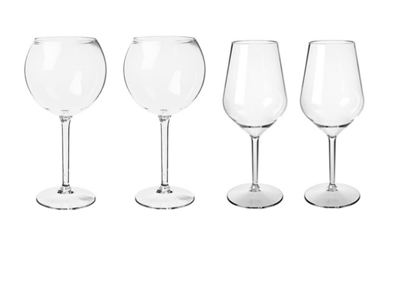 Happy Selection - A borok szerelmeseinek ( 2 db vörösboros- és 2 db fehérboros pohárral)