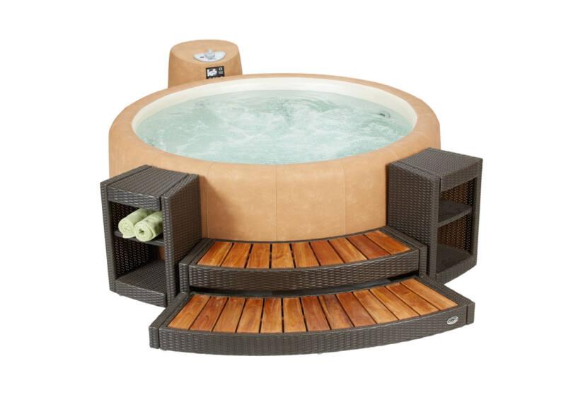 Softub kiegészítő - NEWPORT rattan lépcső Resort 300-as medencéhez