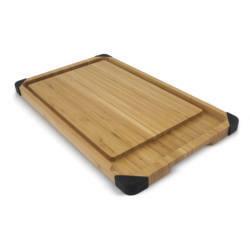Delux bambusz vágódeszka és tálaló szett