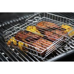Deluxe rozsdamentes acél grillkosár
