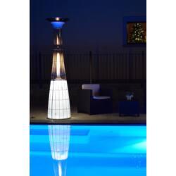 Dolce Vita Lightfire teraszfűtő LED világítással