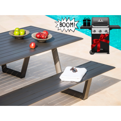 Garden Selection - Pic-Nic étkezőpad Charcoal Mat + AJÁNDÉK Broil King Crown 310 Cart