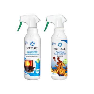 Softcare Special Selection - Kandallóhoz és Grillezőkhöz - Láng protektor 500 ml +Kandalló üveg tisztító 500ml
