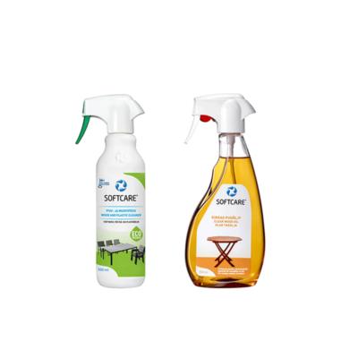 Softcare Outdoor Selection - Fa és műanyag bútorokhoz - faápoló olaj 500 ml + fa és műanyagtisztító 500 ml