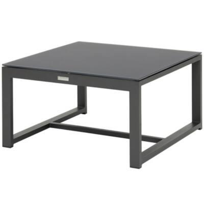 Prado kávézóasztal - 76x76 cm - Charcoal Mat
