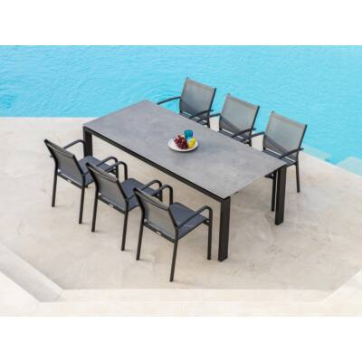 Arolla étkezőasztal Malaga székekkel 6 személyes garnitúra