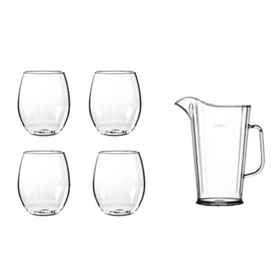 Happy Selection - 4 db vizes pohár (40 cl) + vizes kancsó (1,5 l)