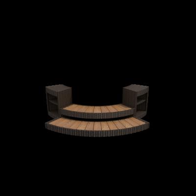 Softub kiegészítő - Newport rattan lépcső Legend 220-as medencéhez