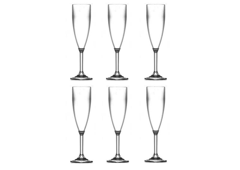 Happy Selection - 6 db-os Pezsgős pohár 19 cl - törhetetlen műanyag