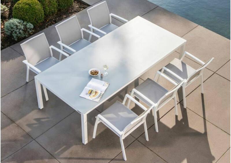 Livorno/Malaga étkezőgarnitúra 6 személyes (nagy asztallal)