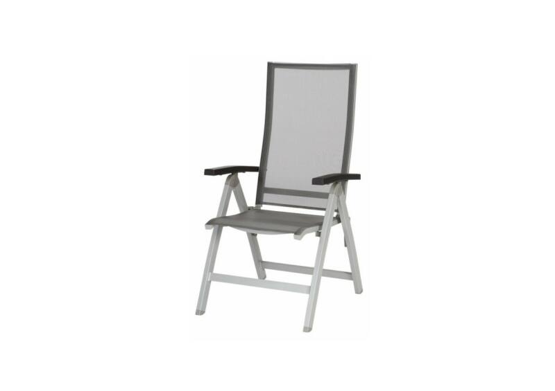 Tinos dönthető háttámlás szék Charcoal Mat Silver Grey