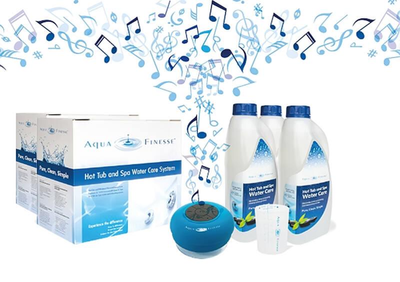 AquaFinesse vízkezelő adalék egységcsomag (2 doboz) + ajándék vízálló Bluetooth hangszóró